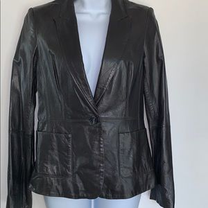 Anne Klein leather blazer
